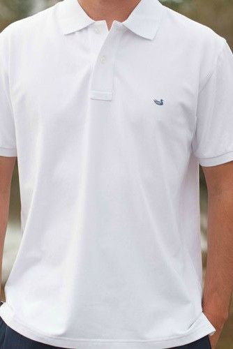 Southern Marsh: Keller Cut Polo, White
