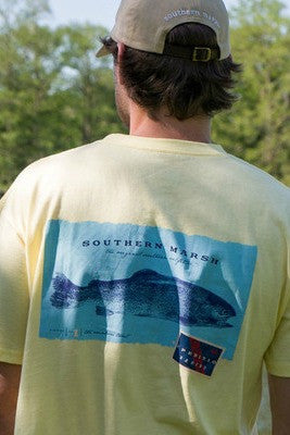 Southern Marsh: Rainbow Trout Tee, Light Yellow