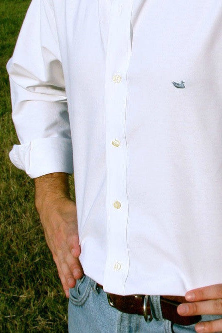 Southern Marsh: Pintail Oxford Dress Shirt, White