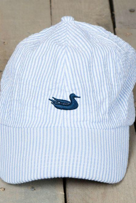 Southern Marsh: Seersucker Hat, Blue