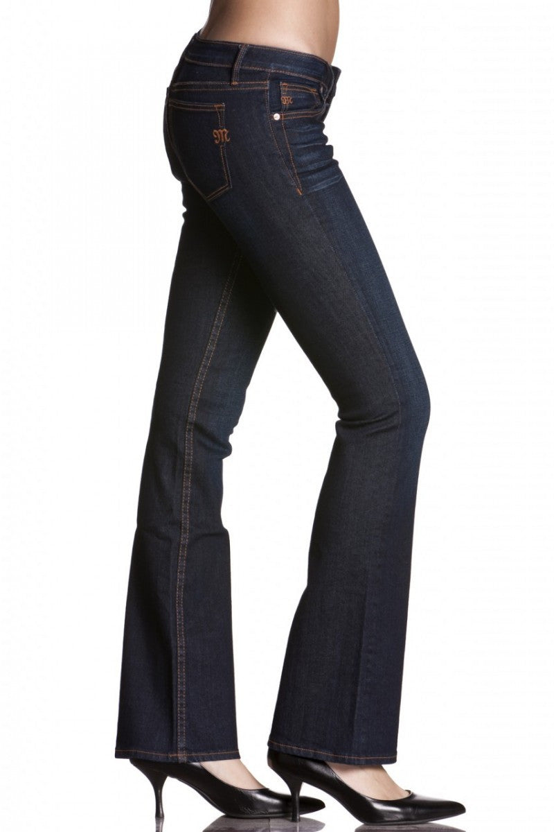 Miss Me: Audrina Boot-Cut Denim Jeans, Dark Blue