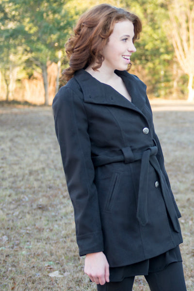 Jack by BB Dakota: Salinger Coat, Black