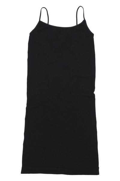 Tees by Tina: Cami Tunic Slip Dress, Black
