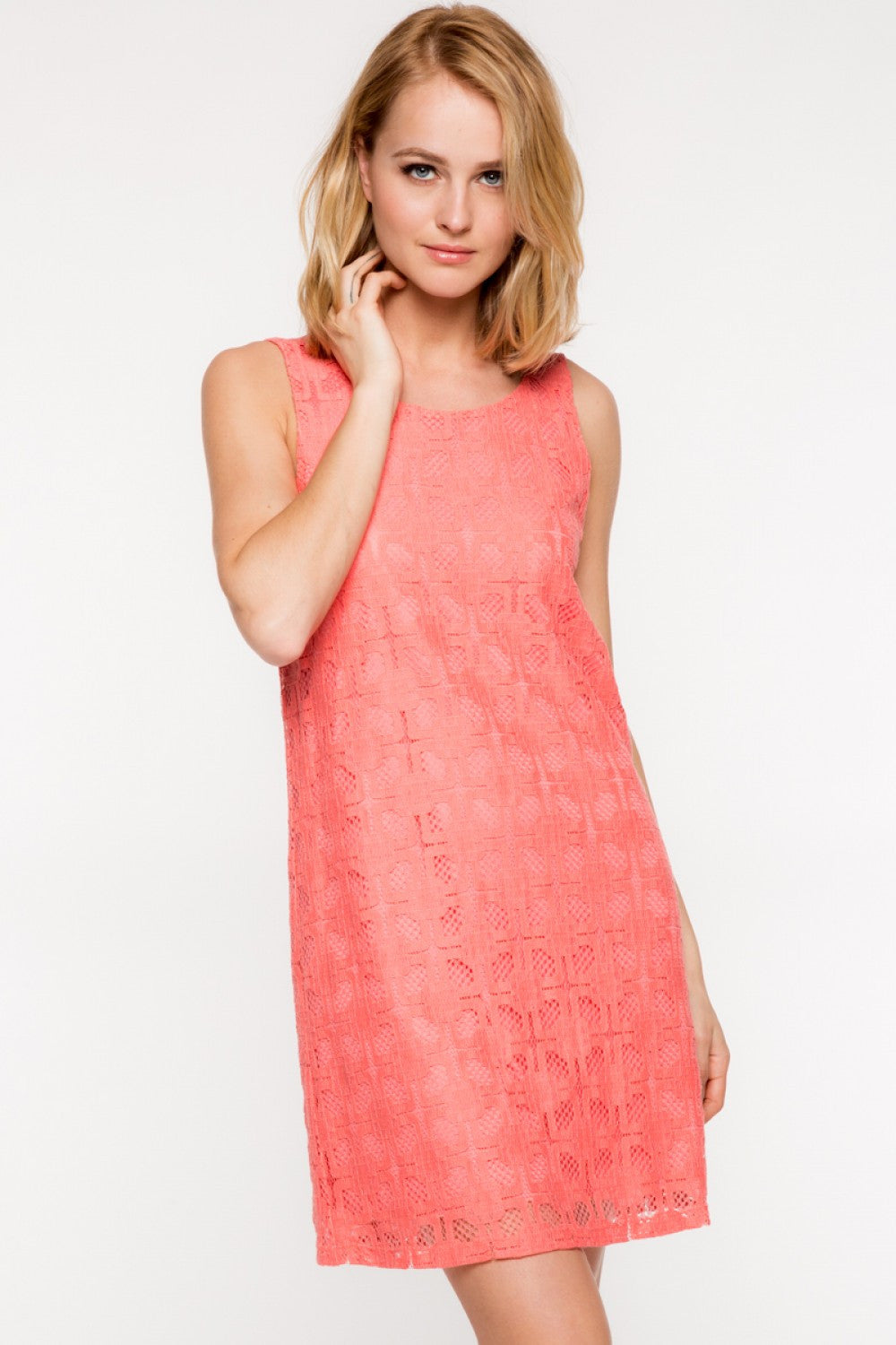 Everly: Dani Dress, Coral