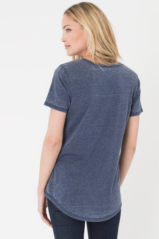 Z Supply: The Pocket Tee, Black Iris