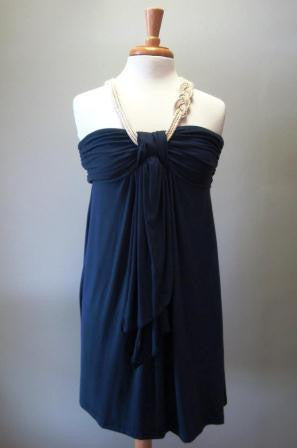 Southern Frock: Casey Balinese Rope Dress, Navy