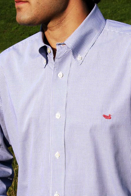 Southern Marsh: Gadwall Gingham Dress Shirt, Royal