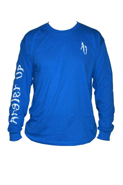 Angler Up: Men's Long Sleeve Tee, Blue/White
