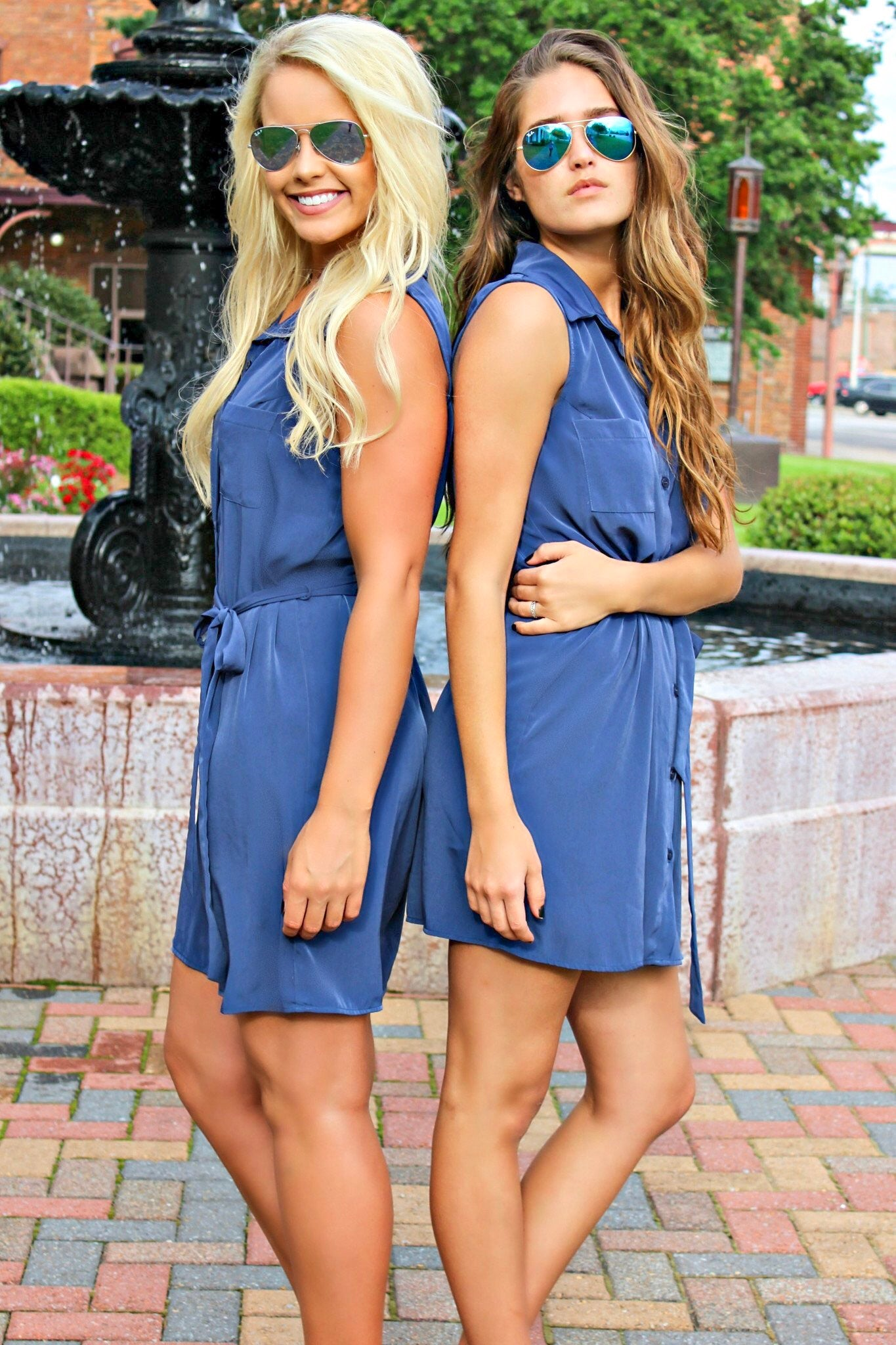 Glam: Loretta Shirt Dress, Navy
