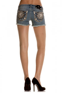 Miss Me: Mason Denim Shorts, Blue
