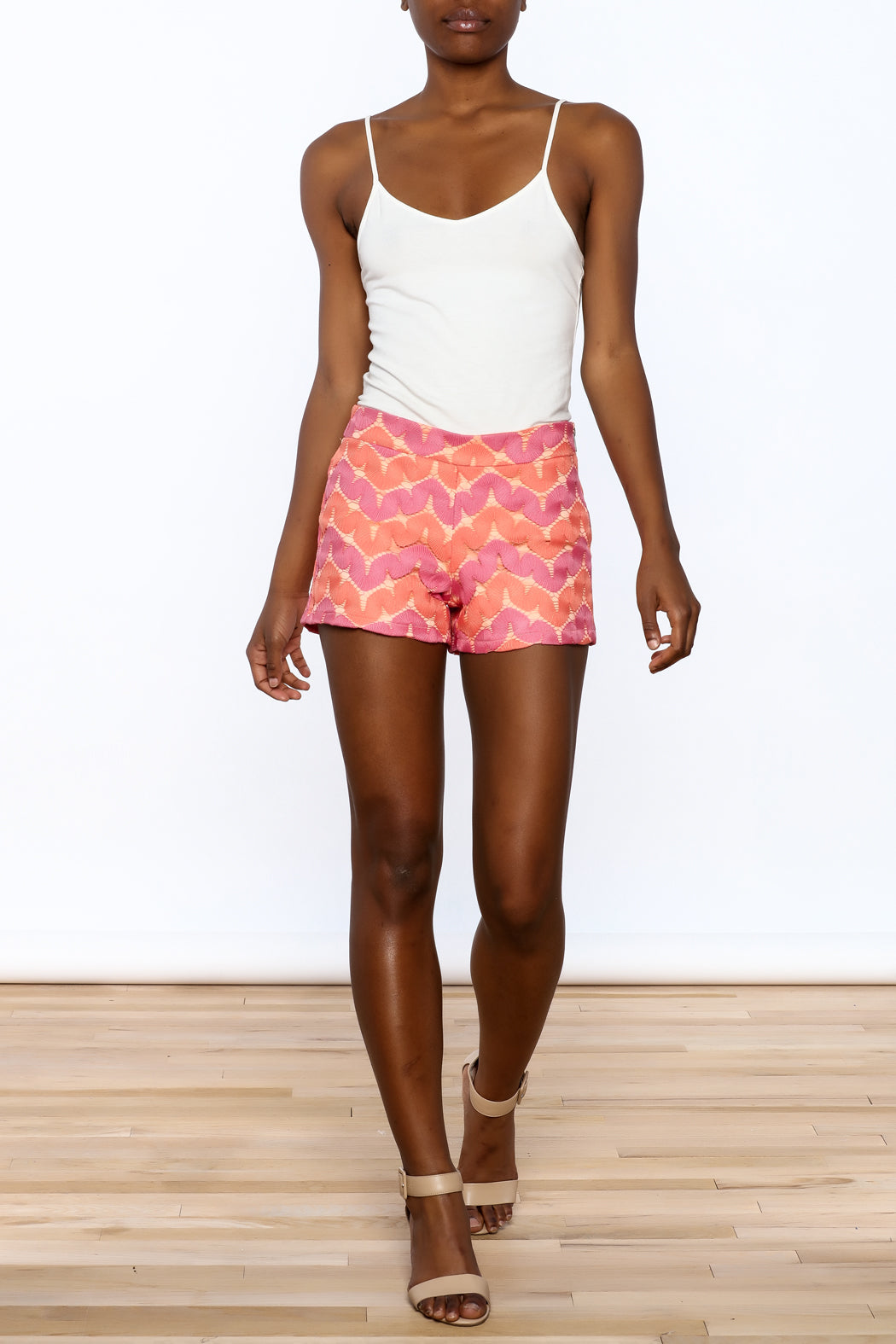 Judith March: Martina Shorts, Coral/Orange