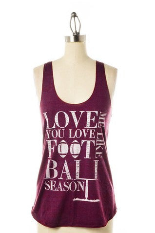 Judith March: Football Tank, Burgundy