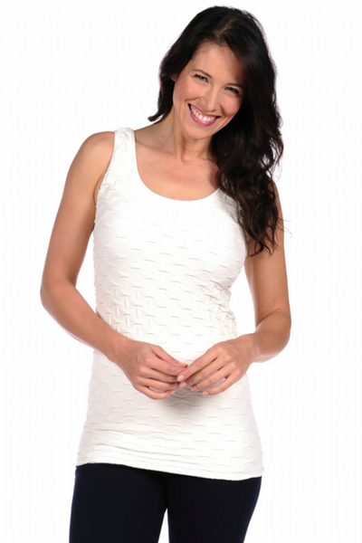 Tees by Tina: Lattice Tank, Ivory