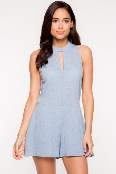 Everly: Kaity Romper, Blue