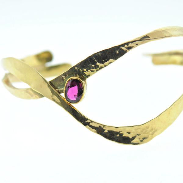 gold and ruby cuff