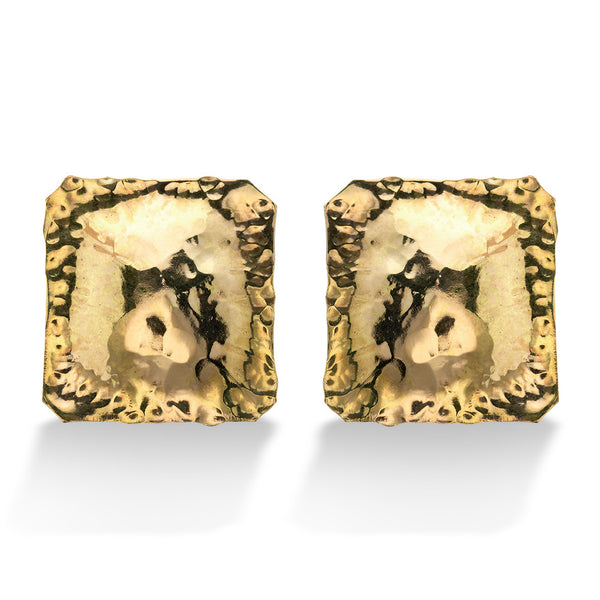 HAMMERED SQUARE EARRING
