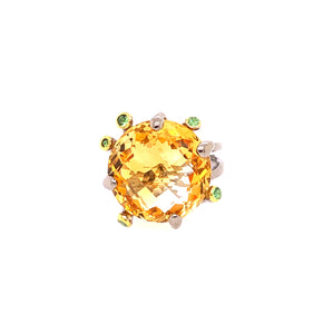 Citrine & Tsavorite Ring