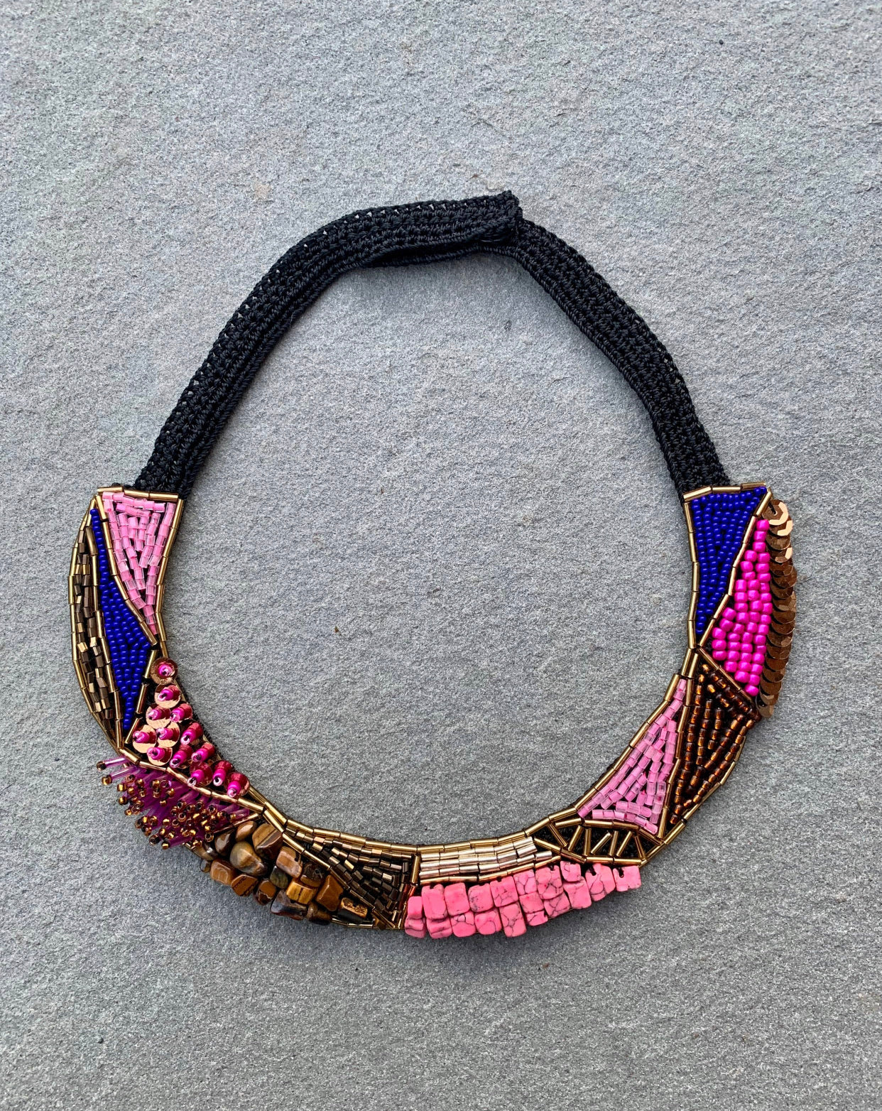 Hand Beaded Collar Necklace
