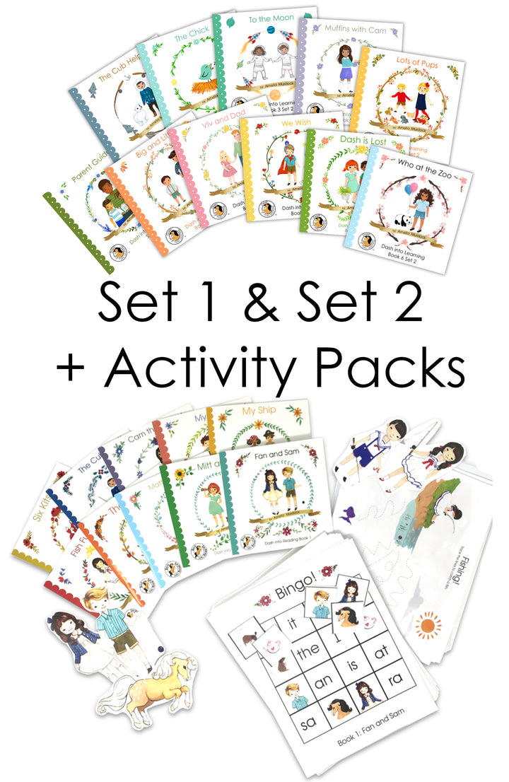 Set 1 & Set 2 + Activity Packs--BUNDLE DEAL!