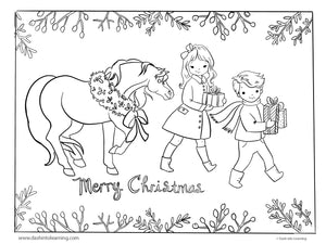 Merry Christmas Coloring Page and Print