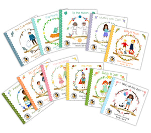 SET 2--10 early reading phonics books