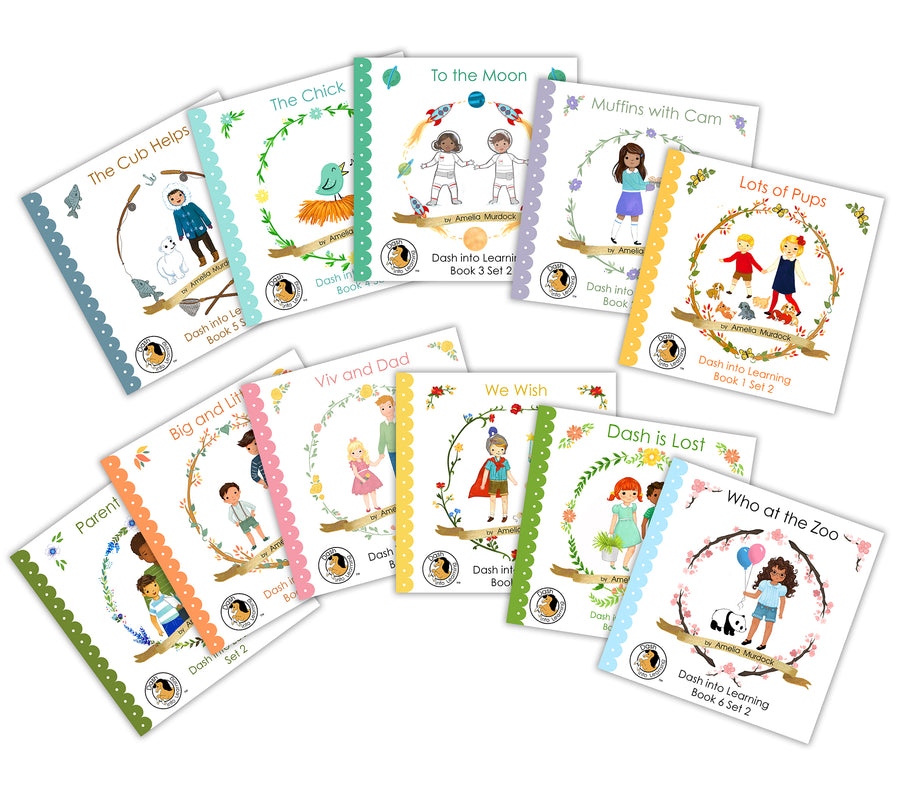 SET 2 Early Reading Phonics Books --11 books!