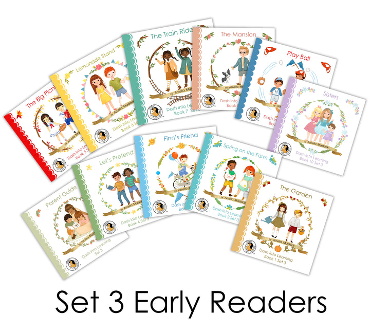SET 3 Early Reading Phonics Books--10 Books!