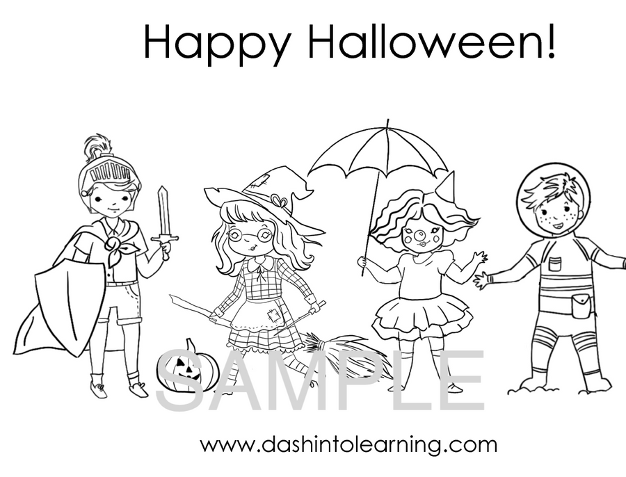 Halloween Coloring and Activity Pack