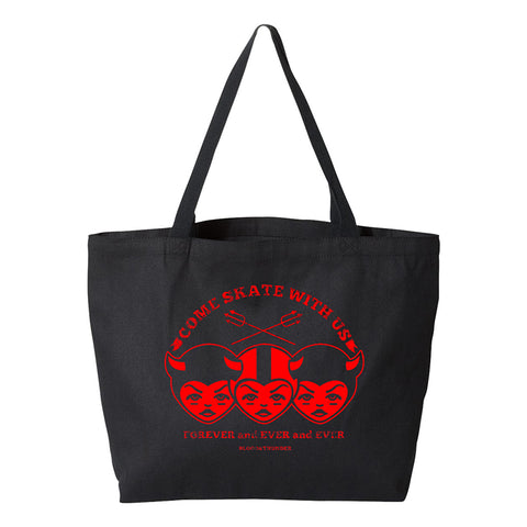 Come Skate With Us Black Tote Bag