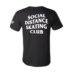 Social Distance Skating Club Black T-Shirt