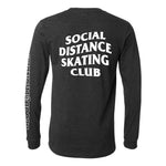 Social Distance Skating Club Gray Long Sleeve Shirt