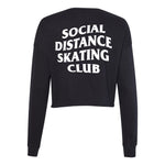 Social Distance Skating Club Cropped Crewneck Sweatshirt