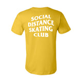 Social Distance Skating Club Mustard Tee