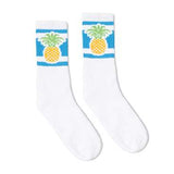 SOCCO Striped Crew Socks PINEAPPLE