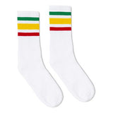 SOCCO Striped Crew Socks RASTA