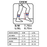 SOCCO Striped Crew Socks WHITE/BLACK