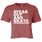 Speak Out and Skate Women's Crop Top