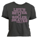Life's Better on Roller Skates Spiral Women's Crop Top