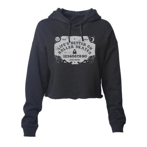 Ouija Women's Cropped Pullover Hoodie (Wholesale)