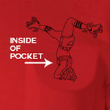 Blood & Thunder Skater in the Pocket Red T-Shirt
