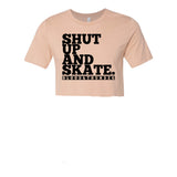 Shut Up and Skate Peach T-Shirt