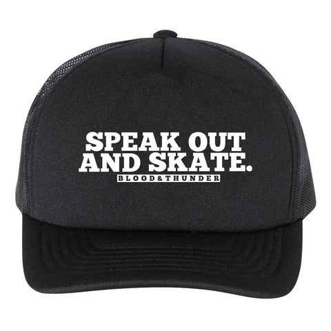 Speak Out and Skate Trucker Hat