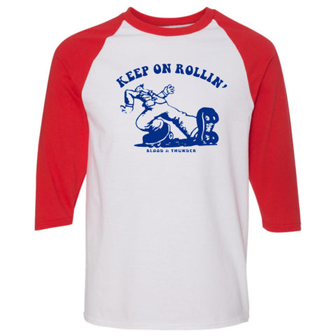 Keep On Rollin' Baseball Shirt (Wholesale)