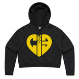 CIB Crew Heart Logo Women's Crop Hoodie (Wholesale)