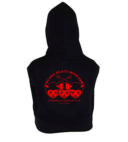 Come Skate With Us Women's Sleeveless Hoodie