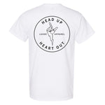 Luzer Apparel Head Up Heart Out White T-Shirt