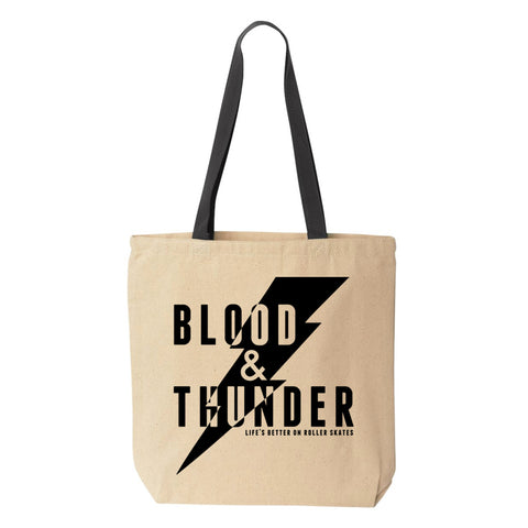 Blood & Thunder Bolt Tote Bag