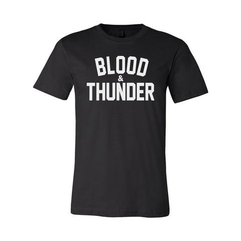 Blood & Thunder Signature Black T-Shirt or Crop Top