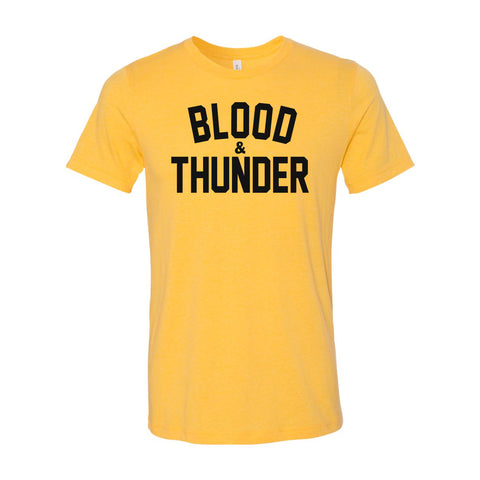 Blood & Thunder Signature Mustard Yellow T-Shirt or Crop Top