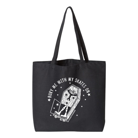 Bury Me With My Skates On Jumbo Tote Bag